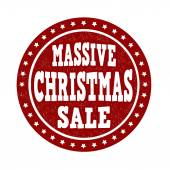 Massive Christmas sale stamp — Stock Vector