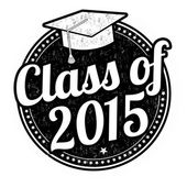Class of 2015 stamp — Stock Vector