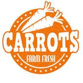 Carrots stamp — Vector de stock