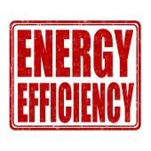 Energy efficiency stamp — Stock Vector