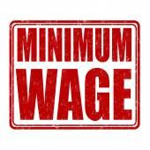 Minimum wage stamp — Stock Vector