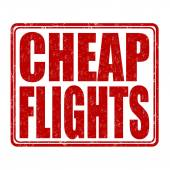 Cheap flights stamp — Stock Vector