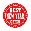 Best New Year offer stamp — Stock Vector #61192943