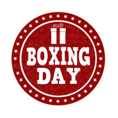 Boxing day stamp — Stock Vector