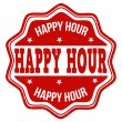 Happy Hour-Stempel — Stockvektor  #61302107