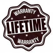 Lifetime warranty stamp — Stock Vector