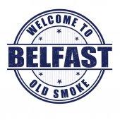 Welcome to Belfast stamp — Stock Vector
