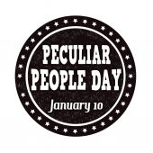Peculiar people day stamp — Stock Vector