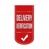 Delivery verification banner design — Stock Vector