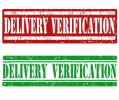Delivery verification stamps — Stock Vector