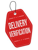Delivery verification  label or price tag — Stock Vector