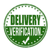 Delivery verification stamp — Stock Vector