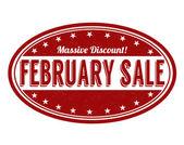 Selo de venda de fevereiro — Vetor de Stock