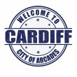 Welcome to Cardiff stamp — Stock Vector #61734697