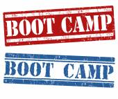 Boot camp stamps — Stok Vektör