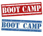 Boot camp stamps — Vector de stock