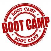 Bollo di boot camp — Vettoriale Stock