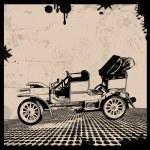 Retro Automobile poster — Stock Vector #62014379
