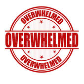 Overwhelmed stamp — Stock Vector