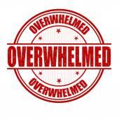 Overwhelmed stamp — Cтоковый вектор