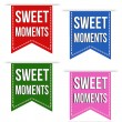 Sweet moments ribbons — Stock Vector #62233515