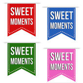 Sweet moments ribbons — Stock Vector