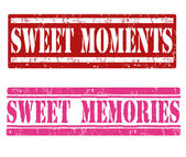 Sweet moments and sweet memories stamps — Stock Vector
