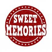 Sweet memories stamp — Stock Vector