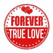 Forever true love stamp — Stock Vector