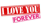I love you forever stamp — Stock Vector