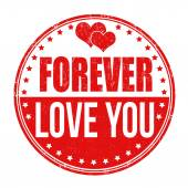 Forever love you stamp — Stock Vector