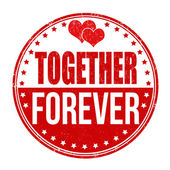 Together forever stamp — Stock Vector