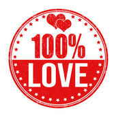 100 percent love stamp — Stock Vector