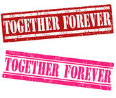 Together forever stamps — Vettoriale Stock