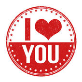 I love you stamp — Stock Vector
