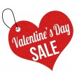 Valentines Day sale label or price tag — Stock Vector #62406361