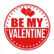 Be my Valentine stamp — Stock Vector #62476171