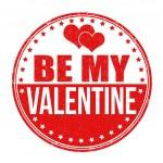 Be my Valentine stamp — Stock Vector #62476171