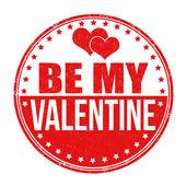 Be my Valentine stamp — Stock Vector