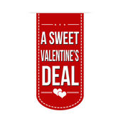 A sweet Valentines deal banner — Stock Vector
