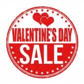 Valentines Day sale stamp — Stock Vector