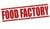 Essen fabrik stempel — Stockvektor