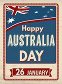 Australia day  retro poster — Stock Vector