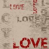 Typographic love poster design — Stock Vector