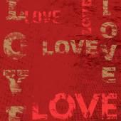 Typographic love poster design — Stockvektor