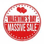 Valentines Day massive sale stamp — Stock Vector