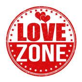 Love zone stamp — ストックベクタ