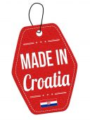 Made in Croatia label or price tag — Stock Vector