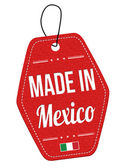 Made in Mexico label or price tag — Stock Vector