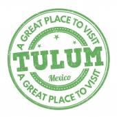 Tulum stamp — Cтоковый вектор